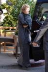 Mary Kate Olsen dresses in what looks like a blanket