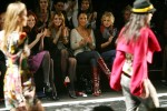 Mischa Barton, Minka Kelly, and Kristin Bell watching Miss Sixty