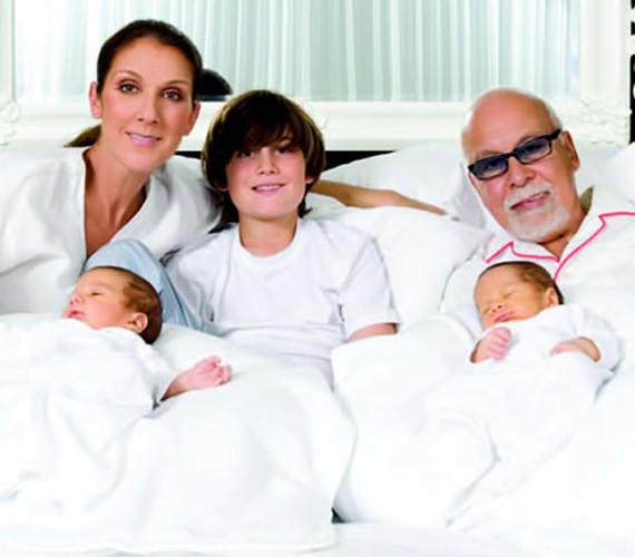 Селин Дион с семьей