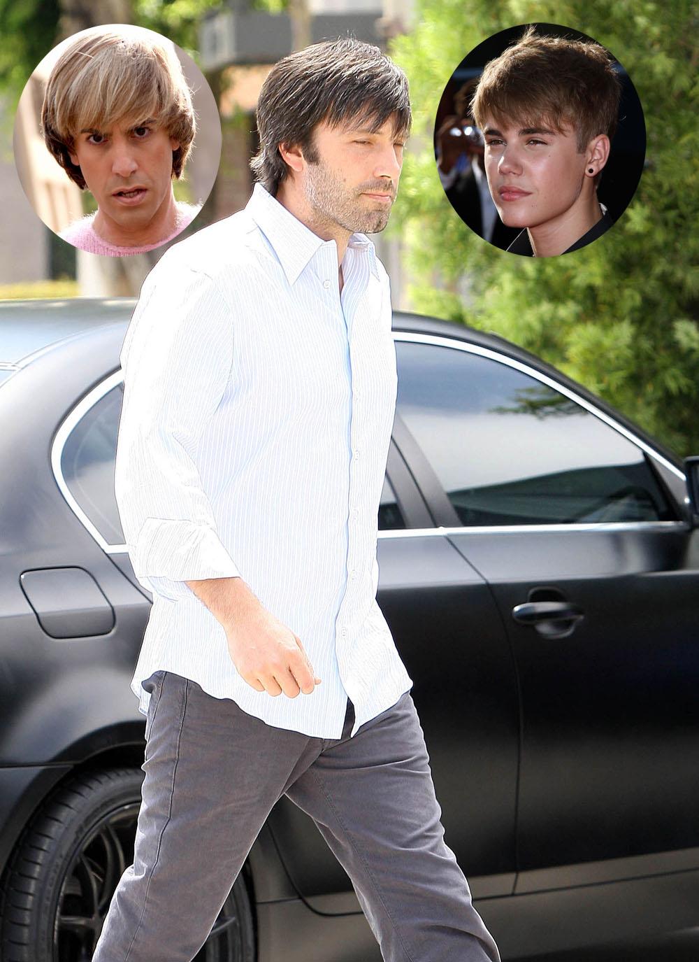 Ben Affleck hair watch, more Bieber or Bruno?