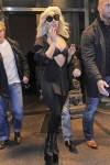 Lady Gaga seen leaving her hotel in New York City
