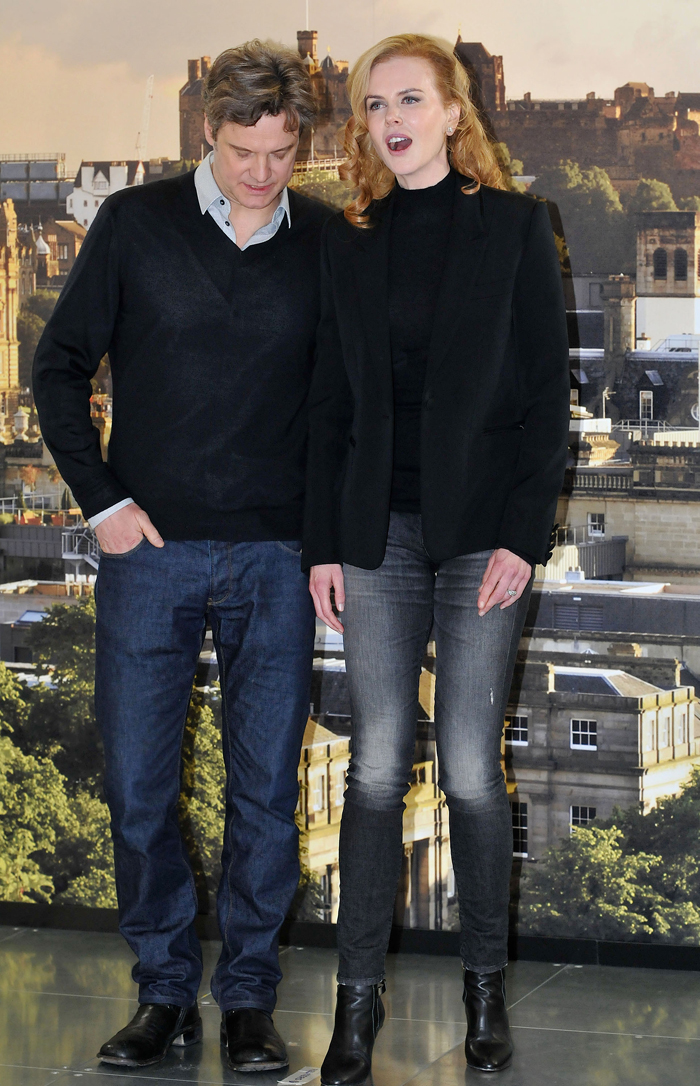 Young Colin Firth Colin Firth Nicole Kidman