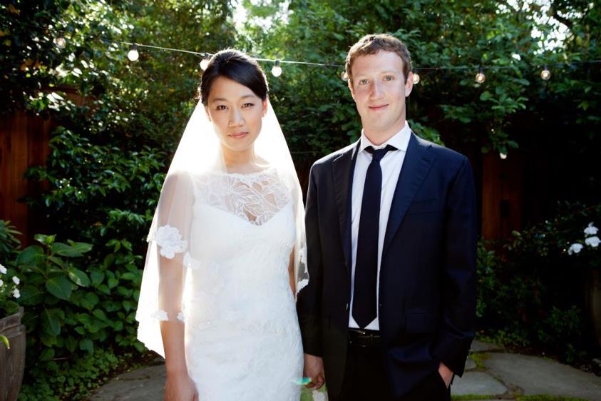 Mark Zuckerberg wedding photo