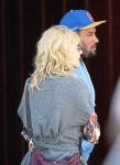 Exclusive...Laura Dern and Ben Harper Grab Lunch at Brentwood Mart