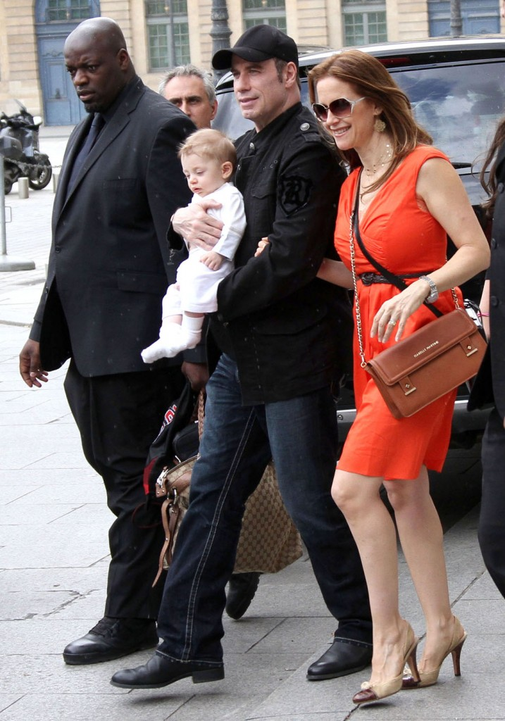 EXCLUSIVE: John Travolta And Family Leaving The Ritz Hotel In Paris (USA & OZ ONLY)