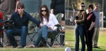 Tom Cruise and Katie Holmes Watch Isabella Soccer Game