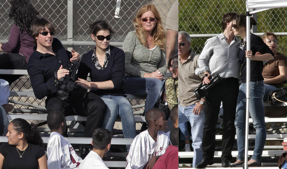 Tom Cruise and Katie Holmes Watch Conor's Football Game