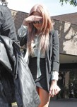 An Embarrassed Amanda Bynes Leaves The Sheriffs Station After A DUI Arrest