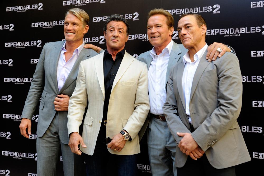 Jean-Claude Van Damme Arnold Schwarzenegger Sylvester Stallone Dolph Lundgren