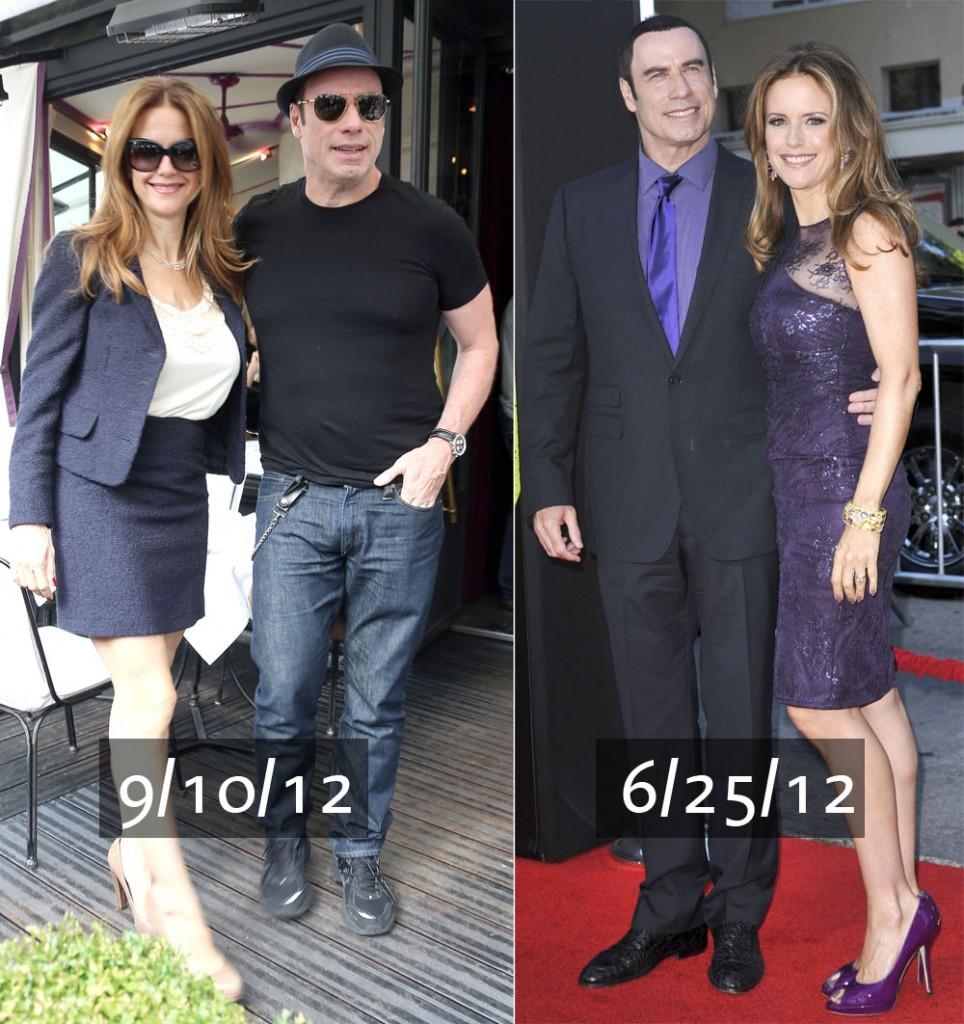 John Travolta & Kelly Preston Enjoy Lunch At L'Avenue
