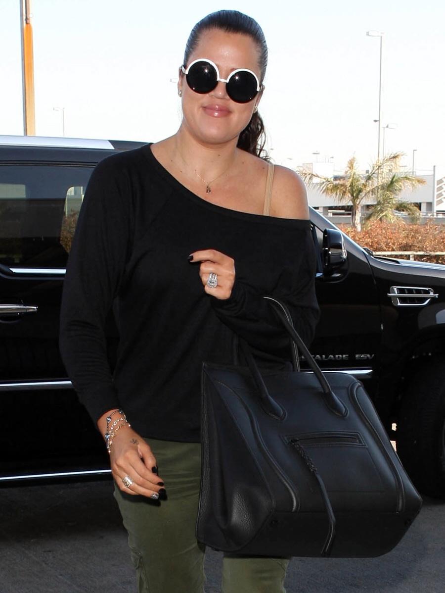 where to purchase celine bags online - Cele|bitchy | Khloe Kardashian\u0026#39;s round sunglasses \u0026amp; $3000 Celine ...