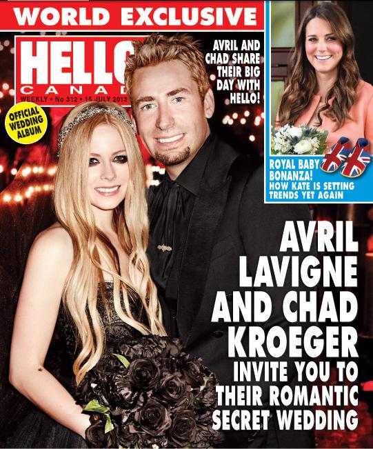Avril Lavigne Wedding Gown: Avril Lavigne Wore A Black Monique Lhullier