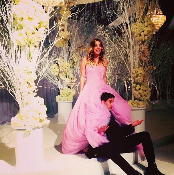 More photos of her petal pink vera wang wedding gown pretty