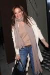 Leah Remini seen leaving Craig's restaurant in West Hollywood