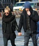 Exclusive... Sam Worthington & Lara Bingle Out For A Stroll In New York