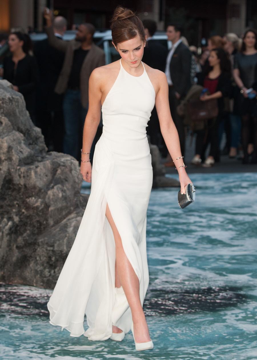 Cele|bitchy | Emma Watson in white Ralph Lauren at UK 'Noah ...