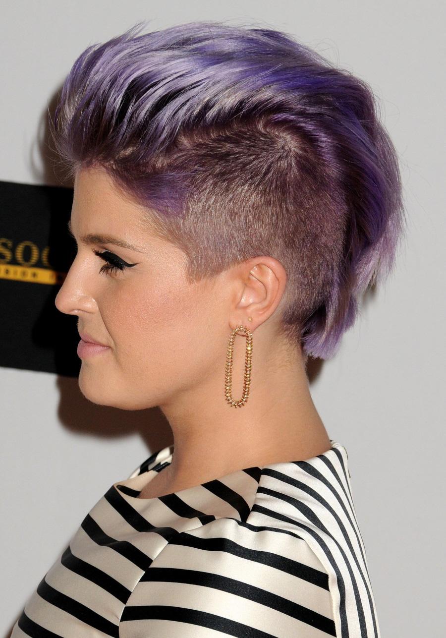 Celebitchy Kelly Osbourne Now Has A Lavender Mohawk