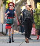 Exclusive... Tallulah Willis & Blanda Eggenschwiler Out Shopping At American Rag
