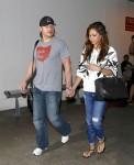 Nick Lachey and Vanessa Minnillo arrive at LAX