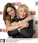 Mother and daughter JOAN (r) and MELISSA RIVERS join the TV Guide Channel. USA. July 2004. Picture supplied by:WENN