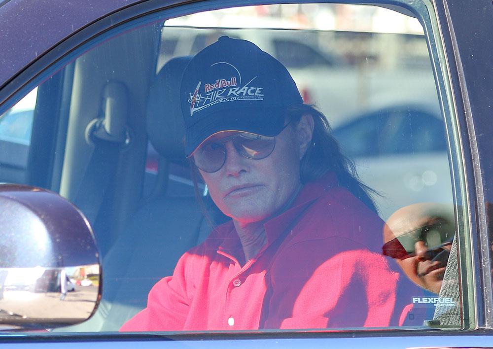 Bruce Jenner Stops By A Studio