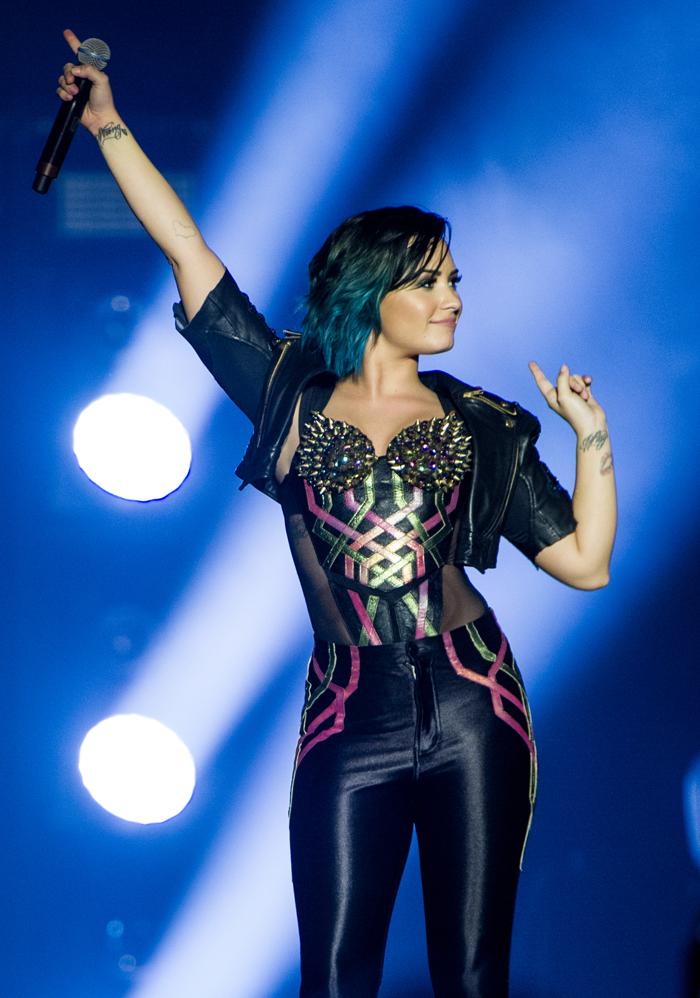 Cele Bitchy Demi Lovato Posts An Anti Thigh Gap Selfie