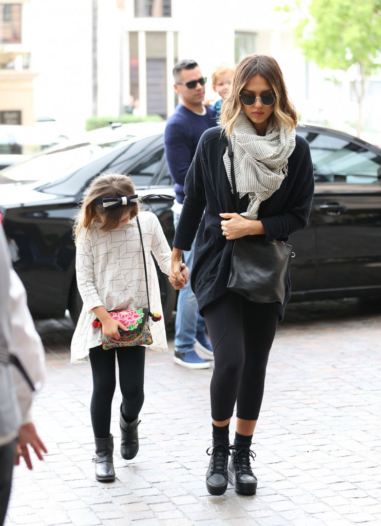 Jessica Alba & Family Stop By The Montage Hotel