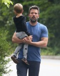 Ben Affleck Wears His Ring While Out For A Walk With Samuel