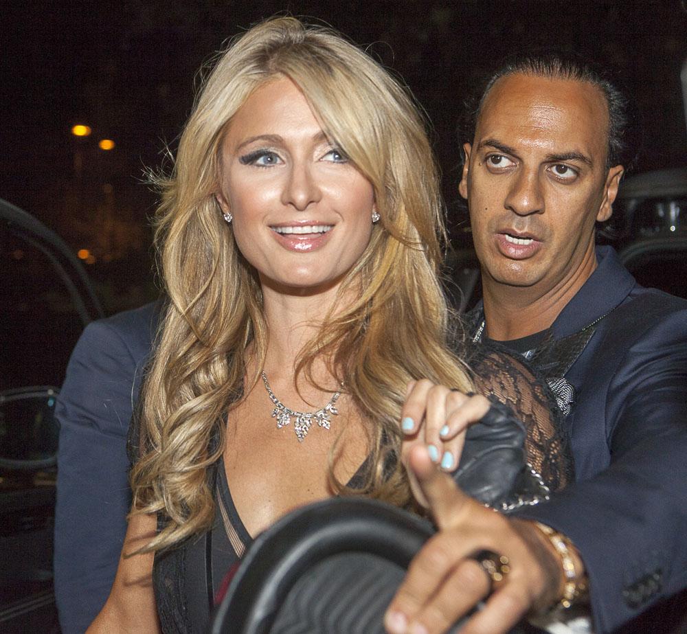 Paris Hilton visits Just Cavalli nightclub