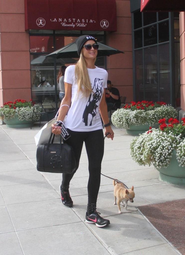 Paris Hilton leaves Anastasia