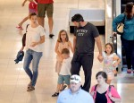Ben Affleck and Jennifer Garner reunite as they step out in Atlanta with children Violet, Seraphina and Samuel - both wearing their wedding rings!