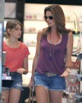 Exclusive... Cindy Crawford Takes Her Daughter Make Up Shopping