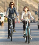 Cindy Crawford & Daughter Out For A Bike Ride