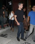 Matt Damon & Luciana Leave Largo At The Coronet Theatre