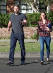Ben Affleck and Jennifer Garner arrive at a building in Santa Monica