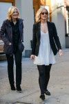 Jennifer Lawrence seen filming an interview with Diane Sawyer at Union Square, NYC