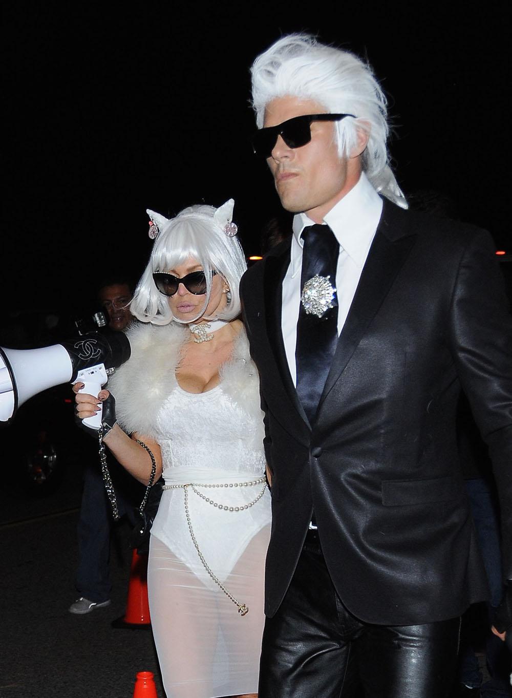Cele|bitchy | Josh Duhamel & Fergie dress up as Karl Lagerfeld ...