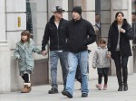 Exclusive... Matt Damon Out And About With His Wife And Daughters In London