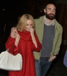 Kylie Minogue and Joshua Sasse seen arriving at St Pancras Eurostar in London