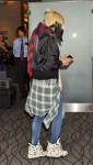 Gwen Stefani is seen at Haneda Airport