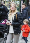 Exclusive... Tori Spelling Visits Copenhagen Amusement Park With Her Family