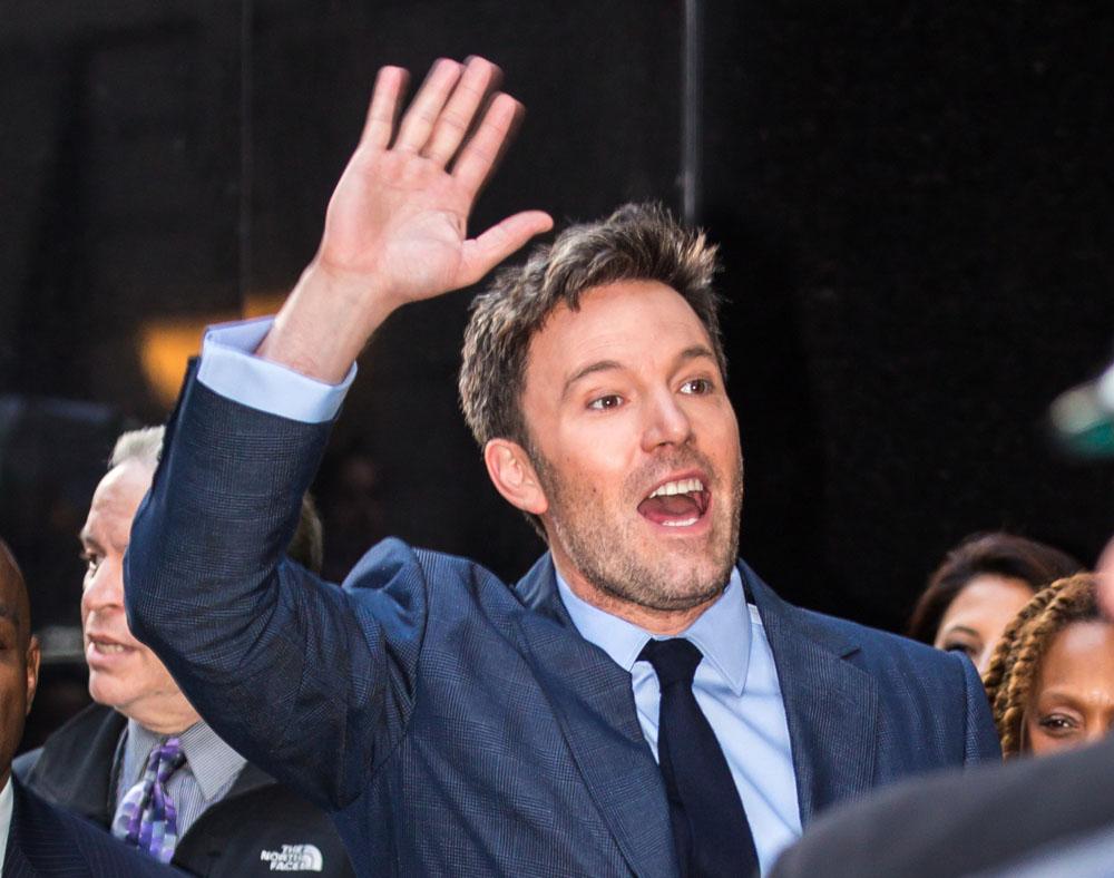 Ben Affleck seen leaving 'Good Morning America' in NYC
