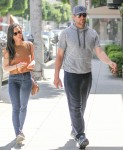 Exclusive... Olivia Munn & Aaron Rodgers Leave An Agents Office In Beverly Hills