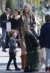 Tori Spelling & Family Visit Cafe De L'Homme