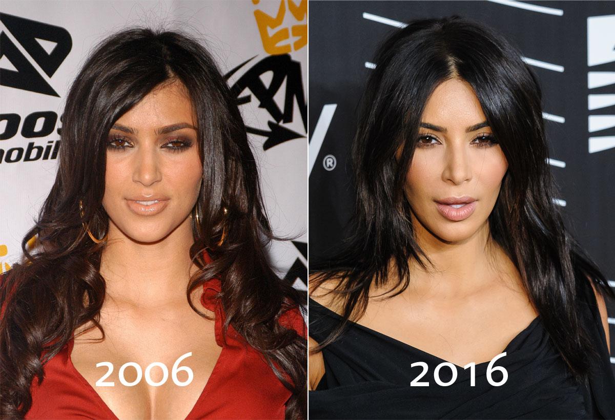 Kim Kardashian Makeup Contouring Before After Mugeek