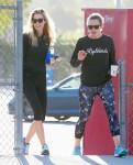 Jennifer Garner Htis The Gym With A Friend
