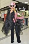 Lady Gaga arrives at Narita International Airport