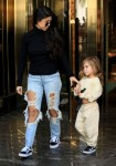 Kourtney Kardashian Out Shopping With Her Daughter