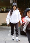 Kourtney Kardashian & Mason Disick At Art Class In LA
