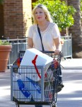 Pregnant Tori Spelling Grocery Shopping At Ralph's